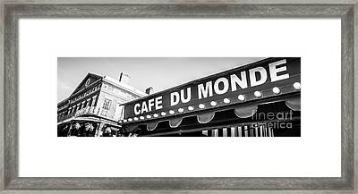 Cafe Du Monde Panoramic Picture Framed Print by Paul Velgos