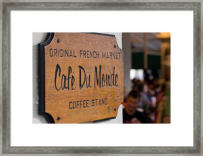 Cafe Du Monde Sign Framed Print