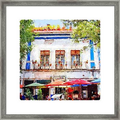 Cafe En Guanajuato Framed Print by Matthew Green