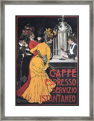 Cafe Espresso Framed Print by Charlie Ross