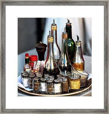 Cafe Essentials Framed Print by John Rizzuto