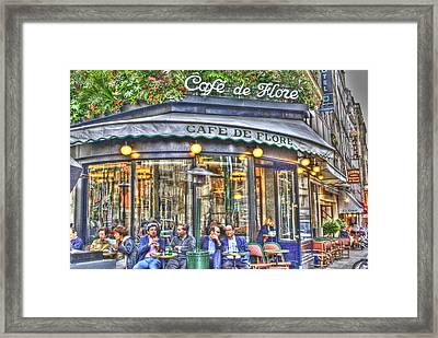 Cafe Flore In Summer Framed Print by Matthew Bamberg