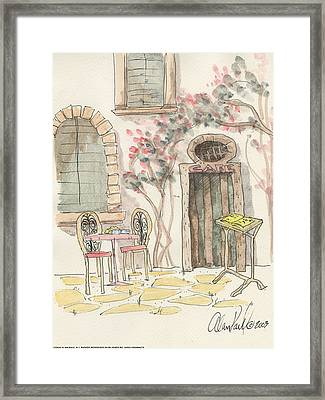Cafe For Two Framed Print by Alan Paul