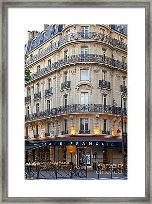 Cafe Francais Framed Print by Brian Jannsen