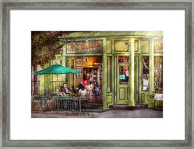Cafe - Hoboken Nj - Empire Coffee And Tea Framed Print by Mike Savad