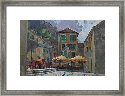 Cafe In Old City Framed Print
