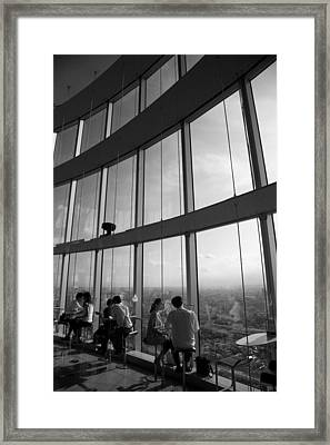 Framed Print featuring the photograph Cafe In The Sky by Brad Brizek