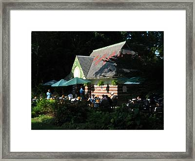 Cafe In The Trees Framed Print by Yue Wang