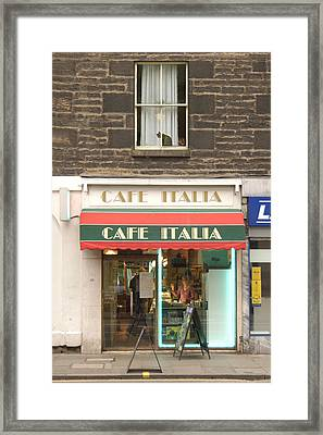 Cafe Italia Framed Print