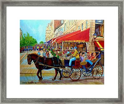 Cafe La Grande Terrasse Framed Print by Carole Spandau