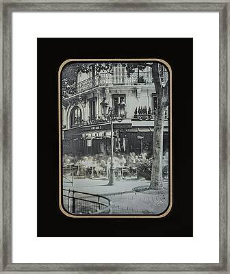 Cafe Le Metro - Paris Framed Print
