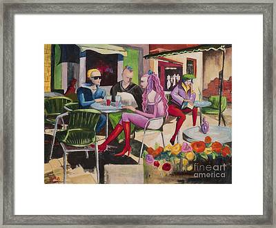 Cafe Marseille Framed Print by Elisabeta Hermann