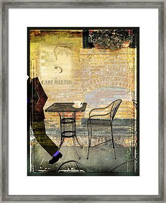 Cafe Martin Framed Print