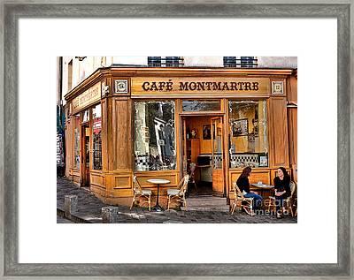 Cafe Montmartre Framed Print