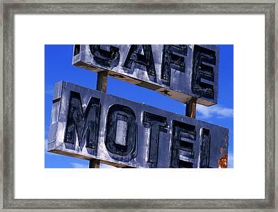Cafe Motel Framed Print
