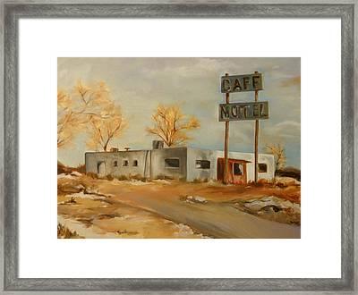 Cafe Motel Framed Print by Lindsay Frost