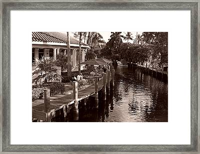 Framed Print featuring the photograph Cafe Outdoors by Lorenzo Cassina