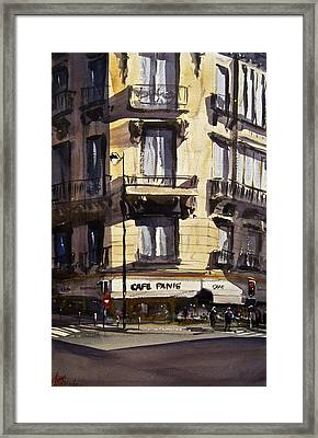 Cafe Panis Framed Print by James Nyika