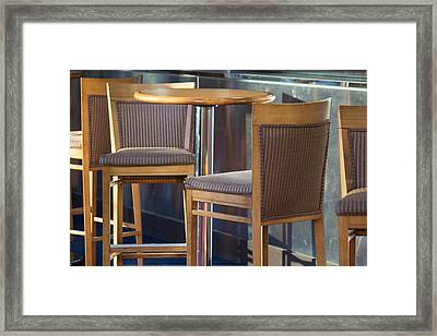 Framed Print featuring the photograph Cafe by Patricia Babbitt