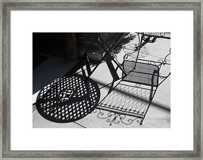 Cafe Shadows Framed Print by Tamara Lee Madden