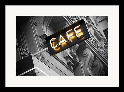 Night Cafe Photographs Framed Prints