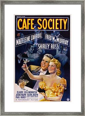 Cafe Society, Us Poster, From Left Fred Framed Print by Everett