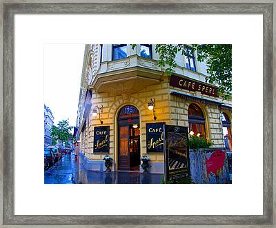 Cafe Sperl Vienna Framed Print
