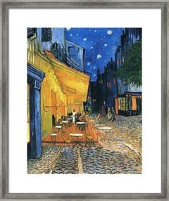 Cafe Terrace Place Du Forum Arles 1888 Framed Print