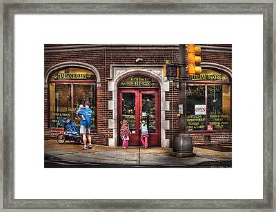 Cafe - The Italian Bakery Framed Print by Mike Savad