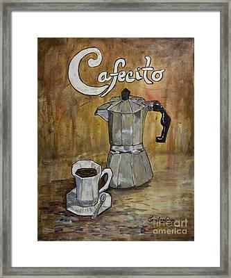 Cafecito Framed Print