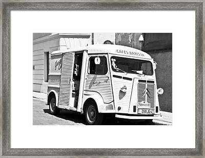 Cafes Barista Framed Print