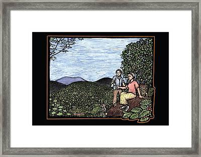 Cafetal Framed Print by Ricardo Levins Morales