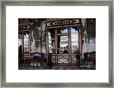 Caffe Florian - Venetian Icon Framed Print by Jacqueline M Lewis