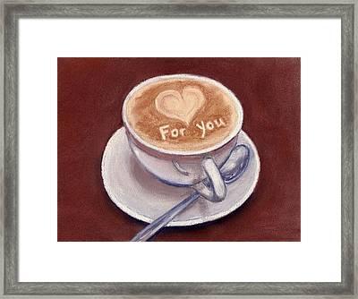 Caffe Latte Framed Print by Anastasiya Malakhova