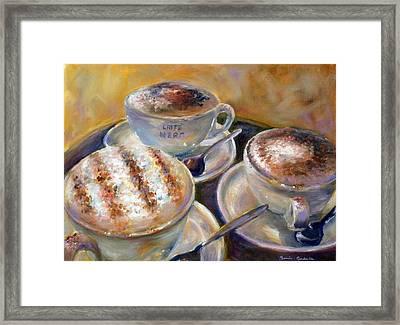 Caffe Nero Framed Print by Bonnie Goedecke