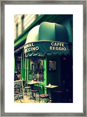Caffe Reggio Framed Print