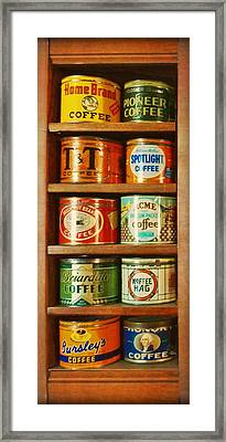 Caffe Retro No. 3 Framed Print