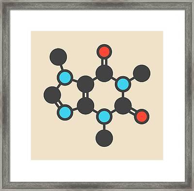 Caffeine Coffee Stimulant Molecule Framed Print