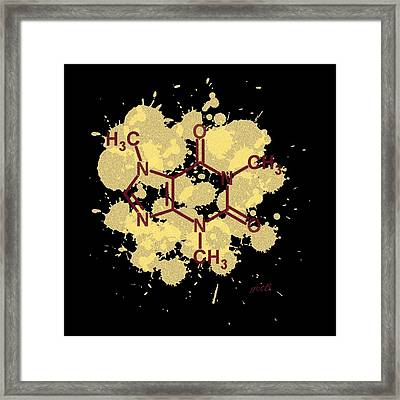 Caffeine Formula Digital Art Framed Print by Georgeta  Blanaru