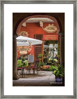 Caffeteria Orta San Guilio Framed Print