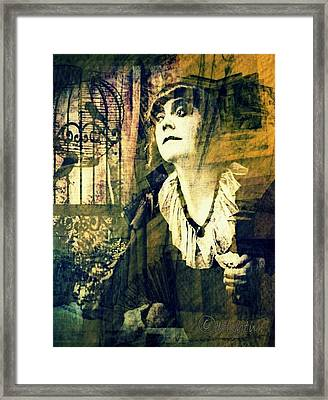 Framed Print featuring the digital art Blueprint For The Frightened by Delight Worthyn