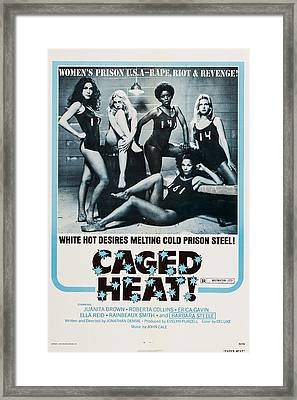 Caged Heat, Us Poster, Clockwise Framed Print by Everett