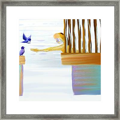 Caged Framed Print by Len YewHeng