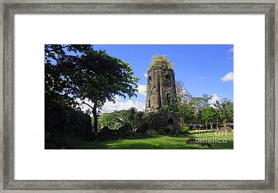 Cagsawa One Framed Print by Manuel Cadag