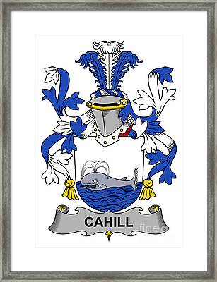 Cahill Coat Of Arms Irish Framed Print