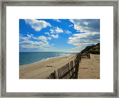 Cahoon Hollow Beach Framed Print