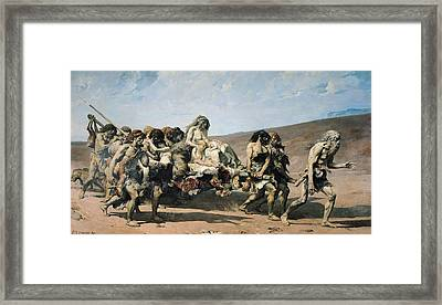 Cain, No. 21 The Conscience, From The Legend Of The Centuries By Victor Hugo, 1859, 1880 Oil Framed Print by Fernand Cormon