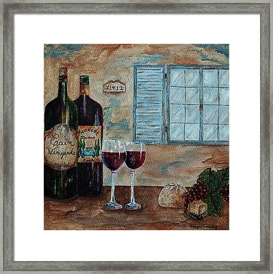 Cain Vineyards And Kennedy Meadows Framed Print