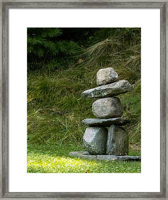 Cairn Georgetown Me Framed Print by Ann Tracy