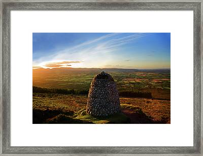 Cairn Marking The Upright Burial Place Framed Print by George Munday